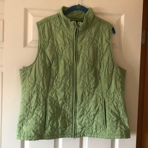 Arias quilted vest with decorative stitching XXL